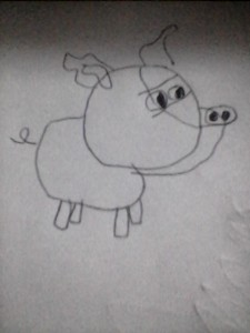 My first pig drawing this week