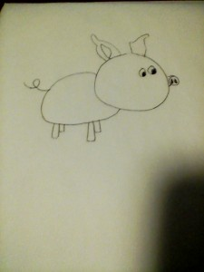My third attempt this week at drawing a pig