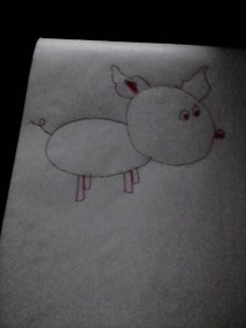 My 4th attempt at drawing a pig this week
